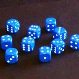 12mm Opaque Spot Dice - Blue